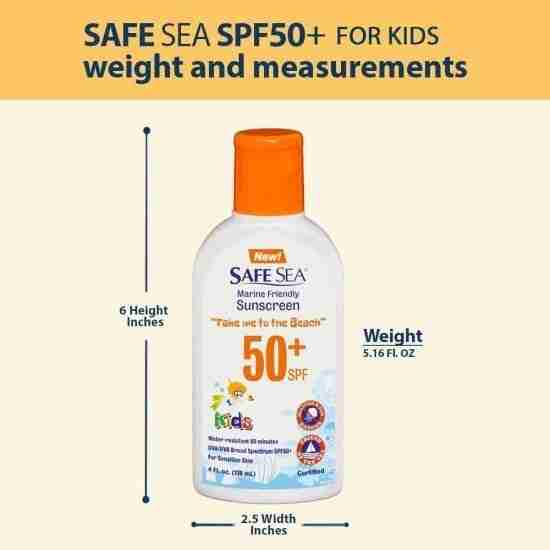 Safe Sea 50+ Kids Dimensions